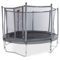 NEW JumpFree PROLINE 15 Foot Trampoline With Safety Enclosure - Titanium Gray
