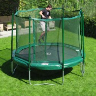 JumpFree 14 Foot Trampoline With Safety Enclosure - Green