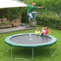 JumpFree 15 Foot Trampoline - Green (No Safety Enclosure)
