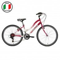 Lombardo Kalahoo  24 inch  Bike- Fuchsia and White