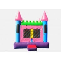 Pink Castle 2 - Commercial Inflatable Bounce House