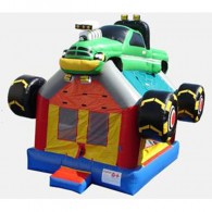 Monster Truck Bouncer - Commercial Inflatable Bounce House (green)