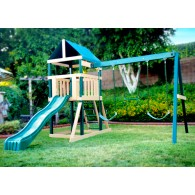 Safari Swing Set - Green and Sand