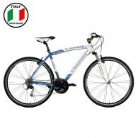 Lombardo F-Cross 500 Mens 28 inch Bike- Blue and White