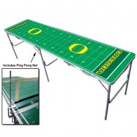 Oregon NCAA Licensed Fold-able Tailgate Table with Ping Pong Net