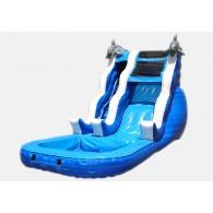 16' Double Drop Waterslide - Commercial Grade Inflatable