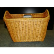 Hand Made Rattan Bike Basket w/ Mountings - Natural Rattan