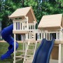 Monkey Play Set Package #3 With Optional Wood Roofs and Rave Slide Upgrade