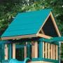 Wooden Roof Upgrade for Congo Monkey Playsets-Green & Brown