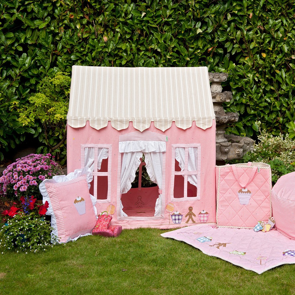 win green playhouse gingerbread house themed. Black Bedroom Furniture Sets. Home Design Ideas