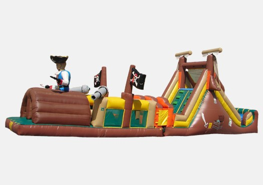 Pirates Obstacle Challenge Inflatable Obstacle Course