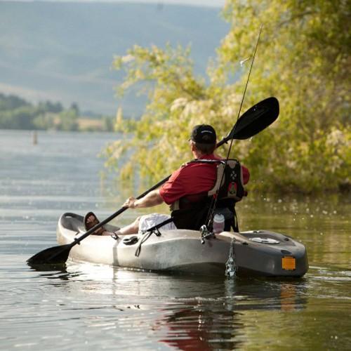 Lifetime 10 Sport Fisher Tandem Kayak Camo Paddles