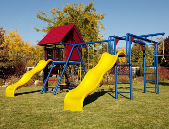 Lifetime Double Slide Deluxe Playset Primary Colors