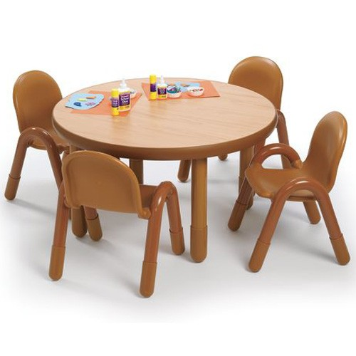 Angeles 174 Baseline 174 Preschool Round Table And 4 Chair Set