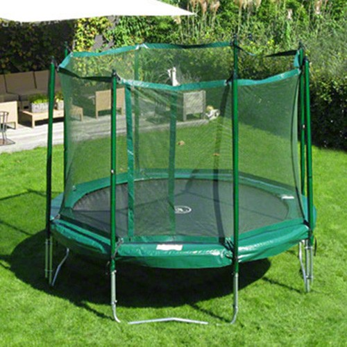 Kidwise Jumpfree 15 Ft Trampoline And Safety Enclosure: JumpFree 12 Foot Trampoline With Safety Enclosure
